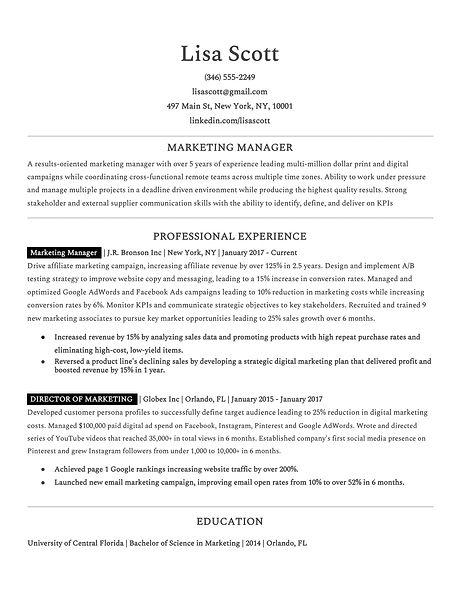 Ideal Resume - Job Titles -- Lisa Scott.