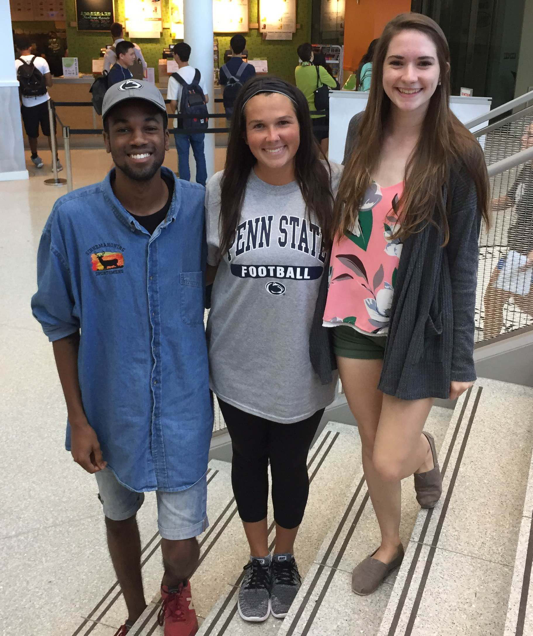 Alexa (Middle) and The Penn State University National Millennial Community