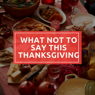 What Your Vegan/Vegetarian Family Members Don't Want to Hear this Thanksgiving