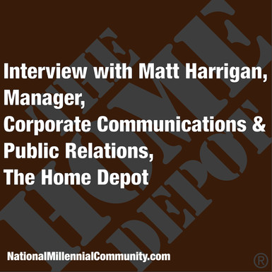 Interview with Matt Harrigan, Manager, Corporate Communication & Public Relations, The Home Depo