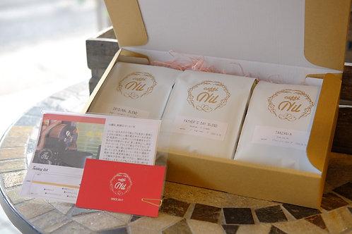 ギフトボックス コーヒー豆 選べる3種セット/200g