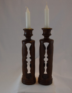 Walnut Candlesticks