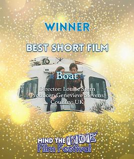 louise stern, genevieve stevens, short, boat, mind the indie, filmfreeway, film festival