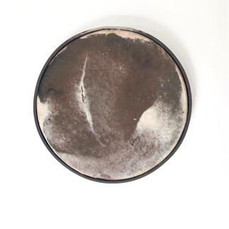 Lune en porcelaine enfumée