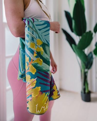 Kew Tropics - Indigo - Yoga Towel Topper