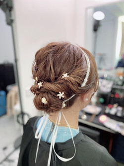 Bridal Updo Hairstyle from Short Hair