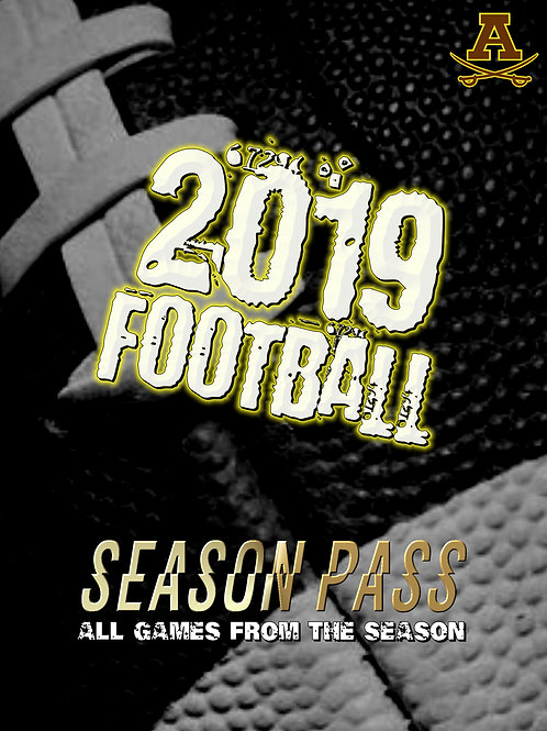 2019 Season Pass Rochester Adams Football Blu-Ray
