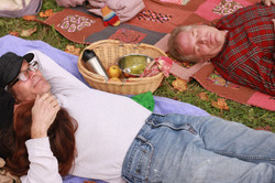 Afternoon picnic and naptime