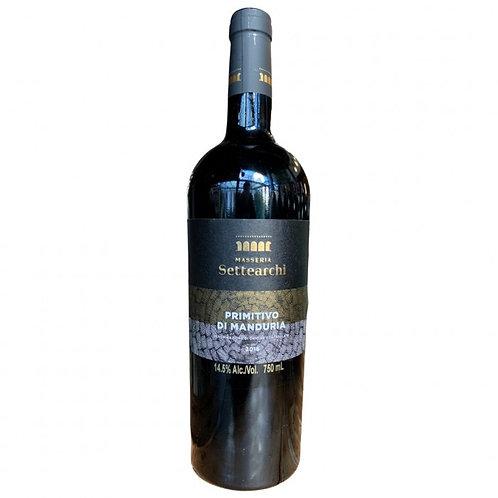 Vinho Tinto Masseria Settearchi Primitivo di Manduria / D.O.C Itália 2018