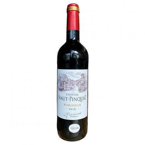 Vinho Tinto Chateau Haut Pinquat 2018 / Bordeaux França