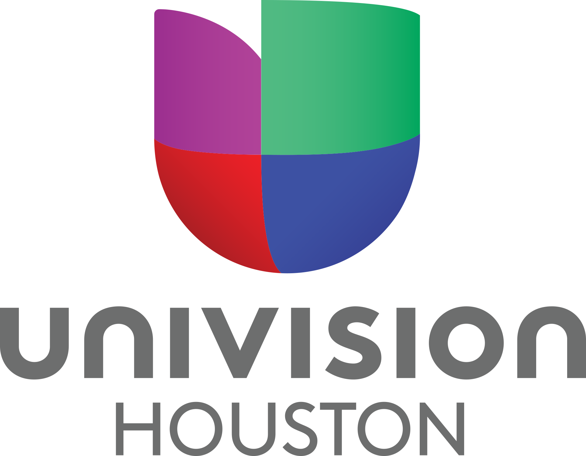 Univision Houston 2019 grey letters