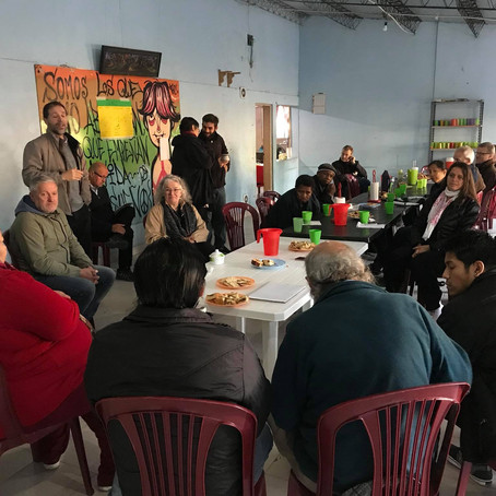 Visitamos proyectos sociales en Varela junto con el CMI