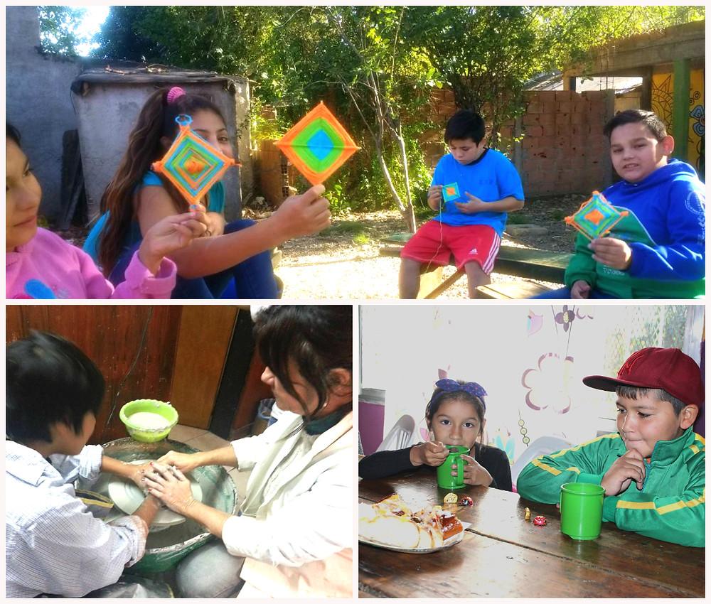 Foto: actividades en los centros La Casona, Ase San Fernando y San Pablo Misión Urbana.