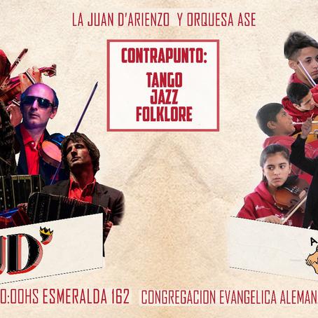 La orquesta juvenil Ase San Fernando se presenta en concierto junto con La Juan D'Arienzo!