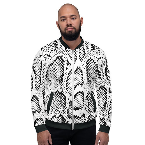 BJ027-  SNAKE PRINT FOR UNISEX BOMBER JACKET PRINTFUL TEMPLATE FILE