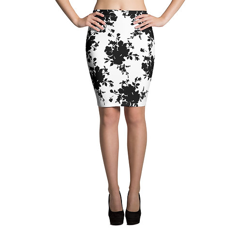 PS02 - PREMADE FLORAL DESIGN ALL OVER PENCIL SKIRTS PRINTFUL TEMPLATE FILE