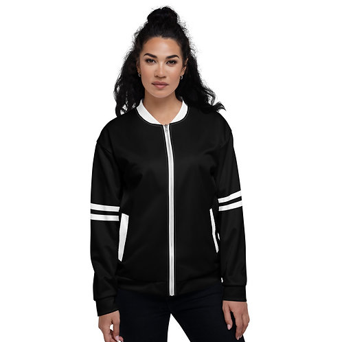 BJ018-  TWO STRIPE BLACK PRINT FOR UNISEX BOMBER JACKET PRINTFUL TEMPLATE FILE