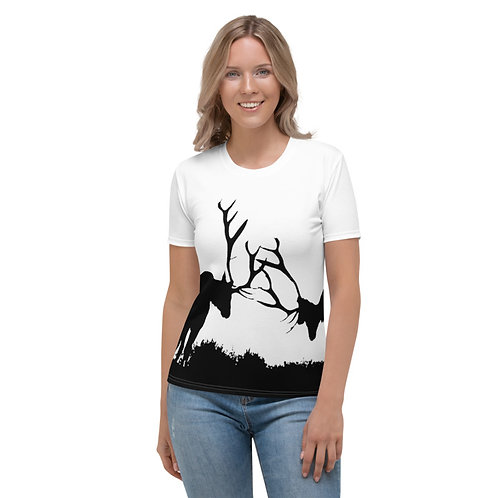 TW161 - DEERS ANIMAL PRINT ALL OVER T-SHIRT TEMPLATE FILE