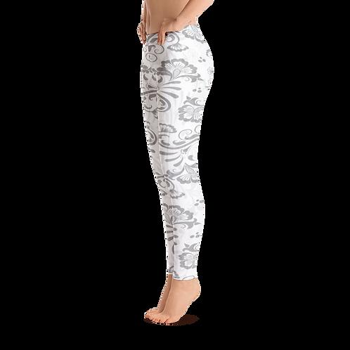 J237 - LEAF ART WHITE LEGGINGS READY DESIGN PRINTFUL TEMPLATE FILE