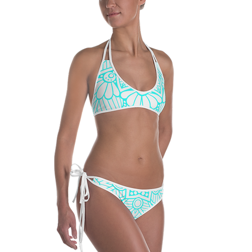 N26 - READY BIKINI SET BLUE MANDALA DESIGN PRINTFUL TEMPLATE FILE