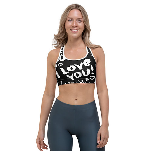 SB95 - I LOVE YOU TEXT PRINT FOR SPORTS BRA TEMPLATE FILE