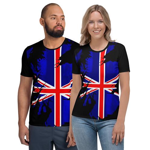 TW113 - UK FLAG ART UNISEX T-SHIRT PRINTFUL TEMPLATE FILE