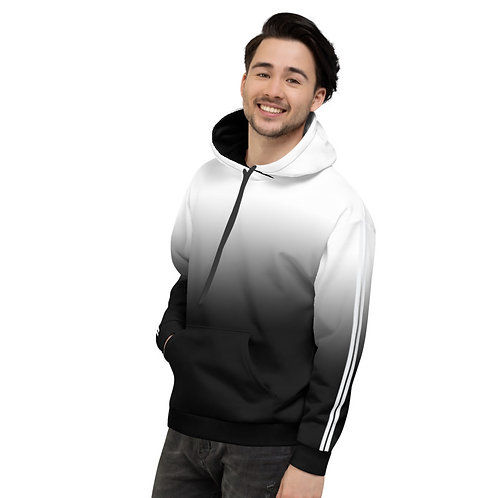 HD14- 2 STRIPES WHITE N BLACK PRINT FOR UNISEX HOODIE TEMPLATE FILE