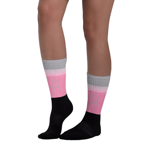 SK039- CAMOUFLAGE PINK PRINT FOR BLACK FOOT SOCKS TEMPLATE FILE