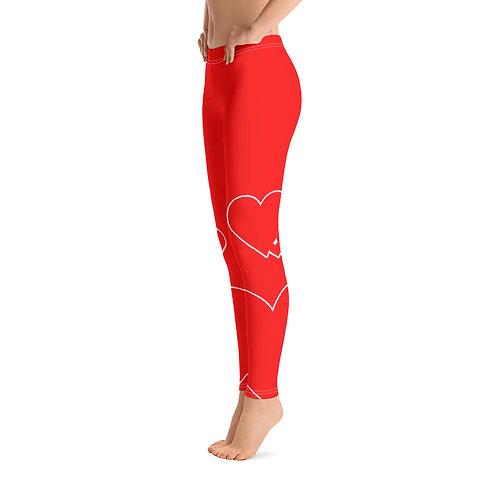 L273 - HEART VALENTINE RED LEGGINGS PRINTFUL TEMPLATE FILE