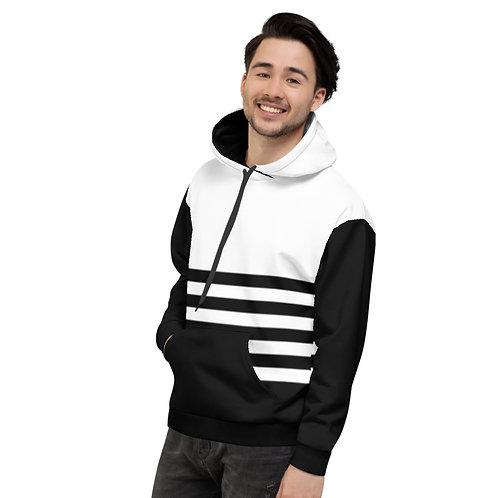 HD15- STRIPES PRINT FOR UNISEX HOODIE TEMPLATE FILE