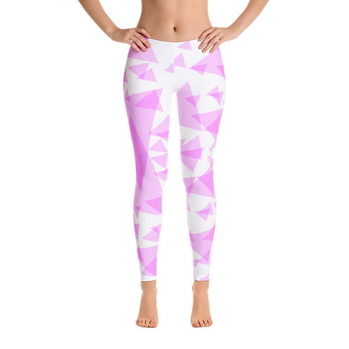 H440- PINK TRIANGLES PATTERN PRINT FOR LEGGINGS TEMPLATE FILE