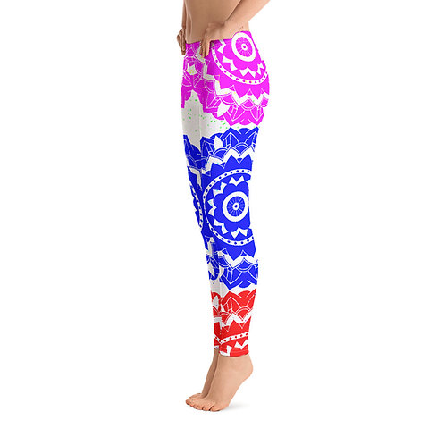 L438 - MANDALA WHITE LEGGINGS READY DESIGN PRINTFUL TEMPLATE FILE