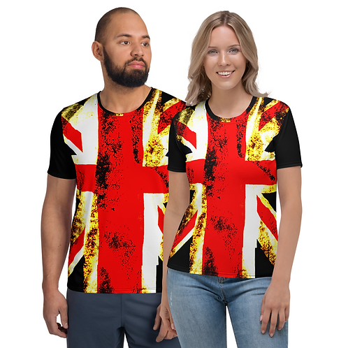 TW112 - UK FLAG ART UNISEX T-SHIRT PRINTFUL TEMPLATE FILE