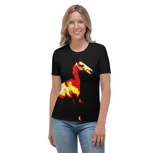 TW045 - VINTAGE HORSE BLACK WOMEN T-SHIRT PRINTFUL TEMPLATE FILE