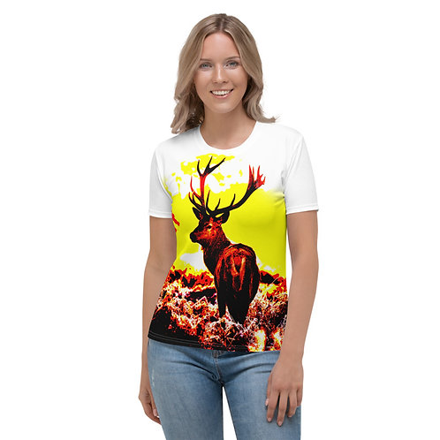TW177 - DEER IN FOREST ANIMAL PRINT ALL OVER T-SHIRT TEMPLATE FILE