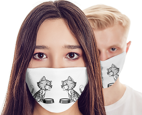 M043 - CATS FACE MASK READY DESIGN TEMPLATE FILE