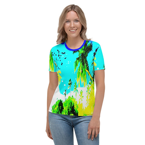 TW165 - PALM TREES SUMMER PRINT ALL OVER T-SHIRT TEMPLATE FILE