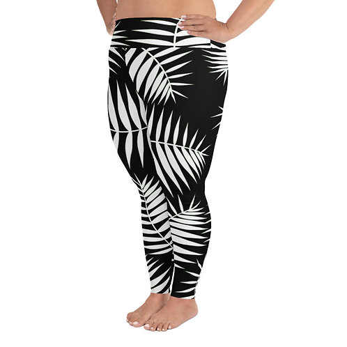 PS018- PALM LEAFS PRINT FOR PLUS SIZE LEGGINGS PRINTFUL TEMPLATE FILE
