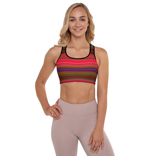 SB49 - STRIPE ALL OVER SPORTS BRA PREMADE DESIGN PRINTFUL TEMPLATE FILE