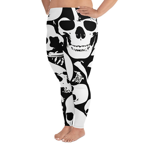 PS050- SKULLS PRINT FOR PLUS SIZE LEGGINGS TEMPLATE FILE