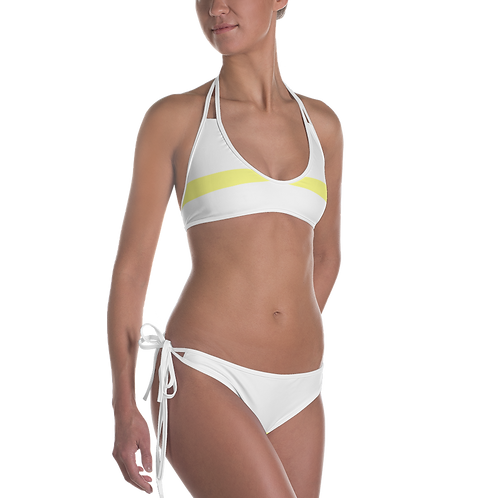 N2 - PRE MADE READY WHITE YELLOW BIKINI SET DESIGN PRINTFUL TEMPLATE FILE