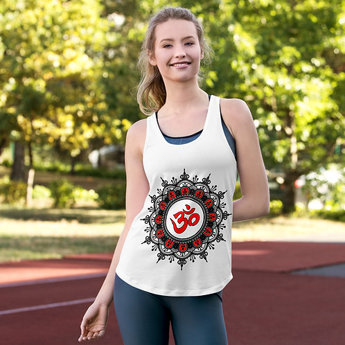TT027 - MANDALA YOGA WHITE RACERBACK TANK TOP PRINTFUL TEMPLATE FILE