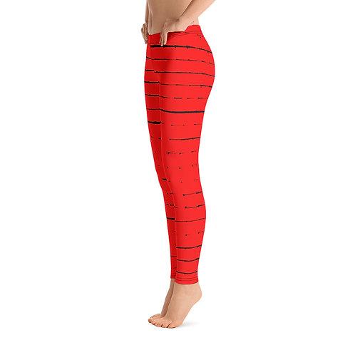 L332 - VINTAGE RED LEGGINGS PRINTFUL TEMPLATE FILE