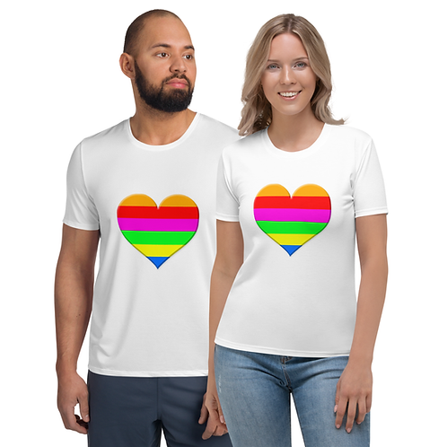 TW129 - 3D RAINBOW HEART ALL OVER UNISEX T-SHIRT PRINTFUL TEMPLATE FILE