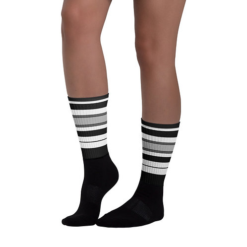 SK248- STRIPES PRINT FOR BLACK FOOT SOCKS TEMPLATE FILE