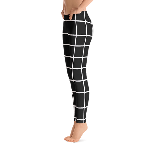 F727 - PREMADE CHECKS DESIGN ALL OVER LEGGINGS PRINTFUL TEMPLATE FILE