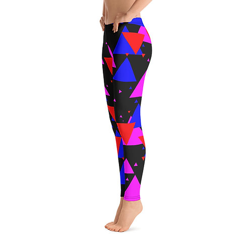 L413 - COLORFUL TRAINGLES BLACK LEGGINGS PRINTFUL TEMPLATE FILE