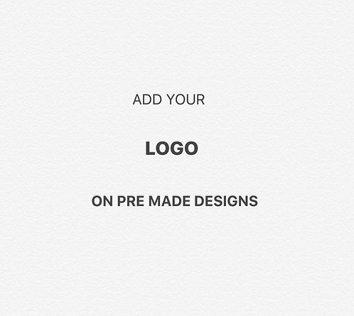 Add Your Logo on Purchase Pre made designs From HRYBRAND