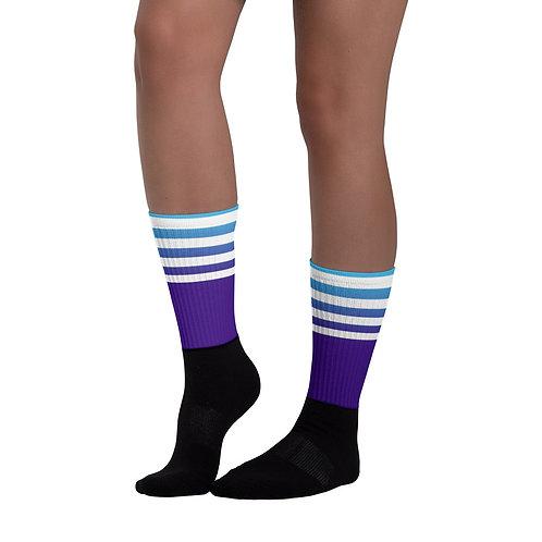 SK013- STRIPES PRINT FOR BLACK FOOT SOCKS PRINTFUL TEMPLATE FILE