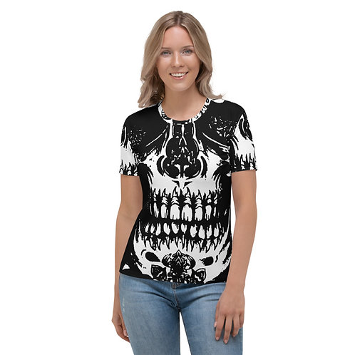 TW170 - SKULL VINTAGE PRINT ALL OVER T-SHIRT TEMPLATE FILE